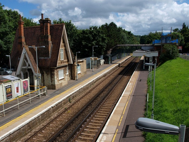 Kenley Rail Station with the old Station Master's house on the left