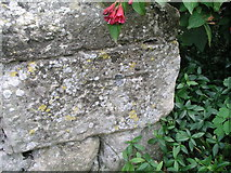 TR1458 : Cut bench mark with bolt on St Dunstan's church by Brian Westlake
