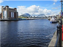 NZ2564 : Looking up the Tyne by Graham Robson
