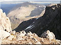 NN9599 : Cairn Toul from Braeriach by Peter S