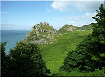 SS7049 : The Valley of Rocks by Maurice D Budden