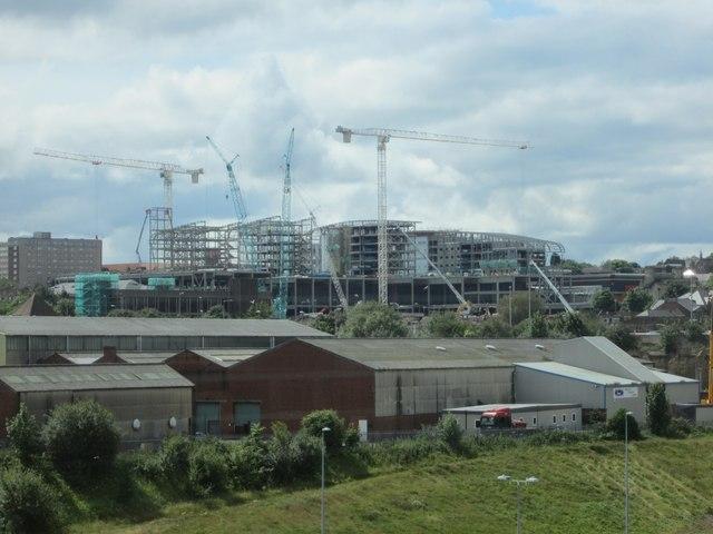 Gateshead Trinity Square under Construction