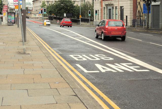 Bus lane, Oxford Street, Belfast (1)
