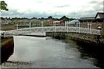 R5757 : Limerick - Pedestrian Bridge across River Abbey  by Joseph Mischyshyn