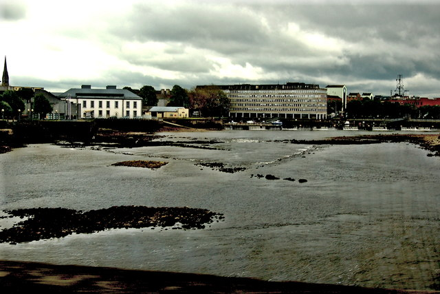 Limerick - Thomond Bridge - Downstream View of River Shannon