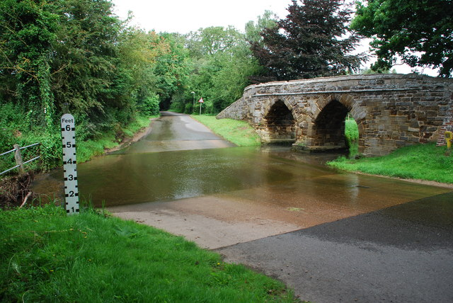Ford and Packhorse Bridge at Sutton