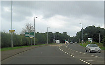 NS2843 : New junction outside St Lukes Primary school by John Firth