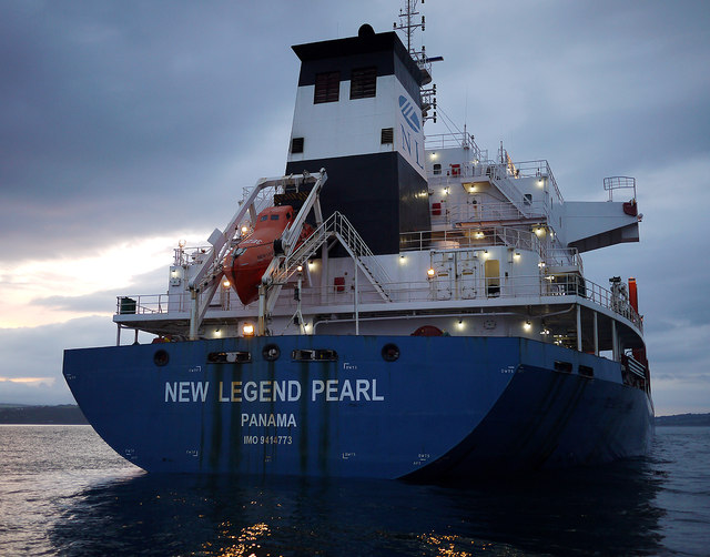 The 'New Legend Pearl' in Belfast Lough