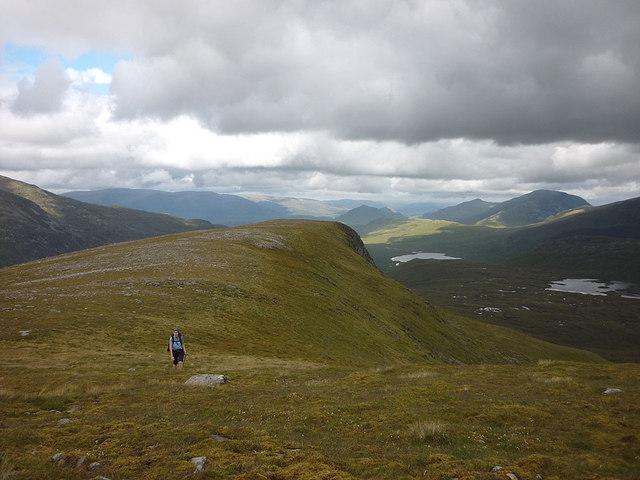 On the north ridge of Beinn na Lap