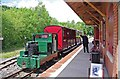 SJ8248 : Train at Apedale Valley Light Railway station, Apedale Community Country Park, near Chesterton by P L Chadwick