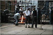 SJ6903 : Blists Hill Victorian Town - wrestling with hot metal by Chris Allen