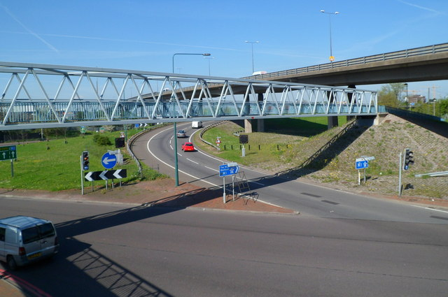 Entrance sliproad to the M1 motorway at junction 1, Staples Corner.London