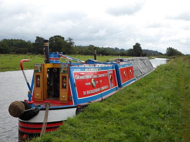 Working Narrow Boat Hadar moored near Sandon, Trent & Mersey canal