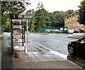 SJ8788 : Bus stop on Birdhall Lane by Gerald England