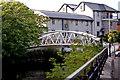 R3377 : Ennis - River Fergus Downstream Walk - Pedestrian Bridge to Rowan Tree Hostel & Cafe Bar by Joseph Mischyshyn