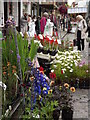 SU9949 : Flower Stall, Guildford Farmers Market by Colin Smith