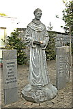 R3377 : Ennis - Francis Street - Franciscan Friary Figure & Plaques by Joseph Mischyshyn