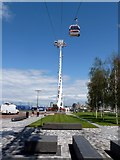TQ3979 : Tower on the Emirates Air Line cable car by Graham Hogg