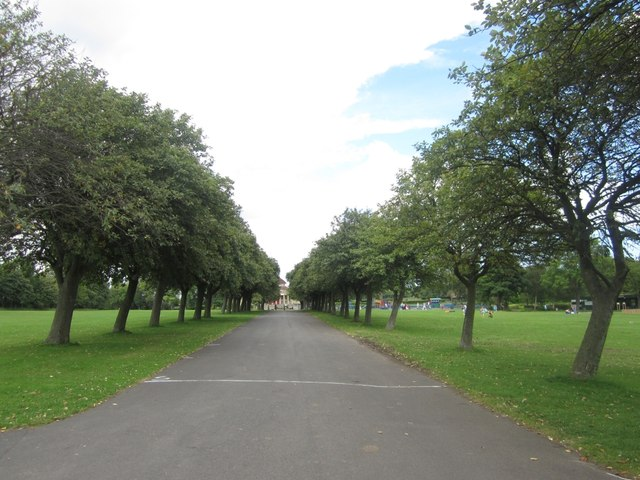 Tree lined path, Exhibition Park