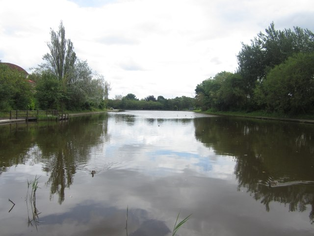 Former boating lake in Exhibition Park