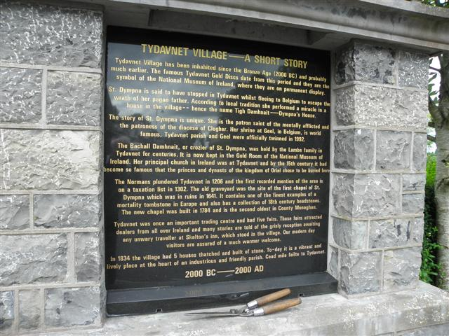 Information board, Tydavnet Village