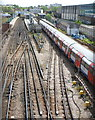 TQ2185 : Neasden tube station by Jaggery
