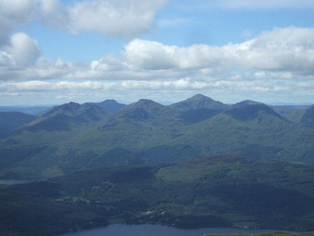 The Arrochar Alps from Ben Lomond