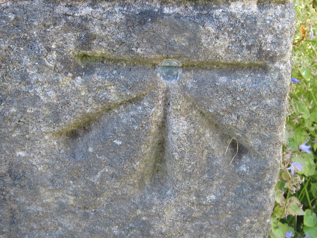 Ordnance Survey Cut Mark with Bolt