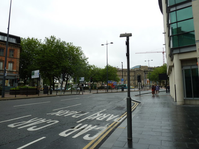 Looking from Victoria Street towards St John's Lane