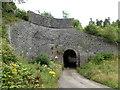 ST1896 : Grade II listed former railway bridge, Pontllanfraith by Jaggery