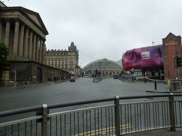 Looking from St John's Lane towards Lime Street Station