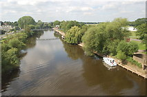 SO8455 : River Severn at Worcester by Julian P Guffogg