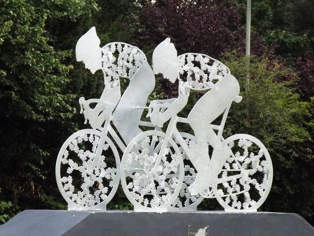 Surrey Cycle Race Sculpture