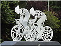 TQ1750 : Surrey Cycle Race Sculpture by Colin Smith