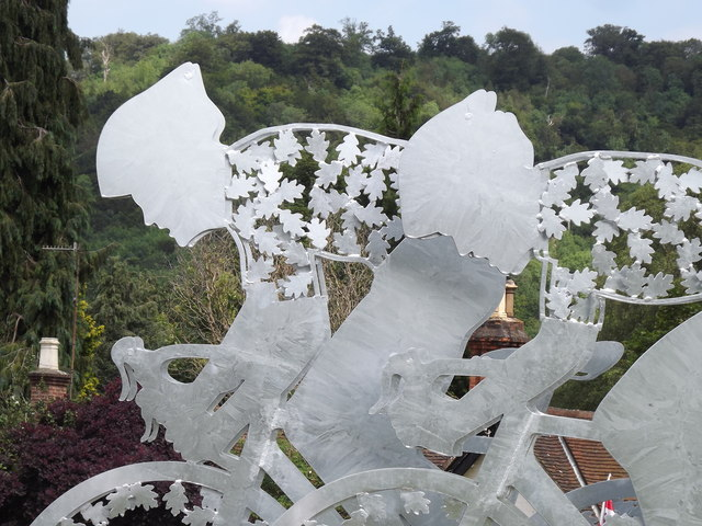 Cycle Race Sculpture, Dorking