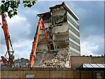 SU1584 : Demolishing the former Swindon College, Regents Circus, Swindon 08.08.12 by Brian Robert Marshall
