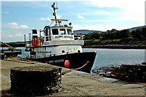 "M2208 : The Burren - Ballyvaghan - Harbour Pier - "" Happy Hooker"" Boat by Joseph Mischyshyn"