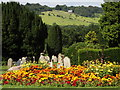 TQ1749 : Flower Beds, Dorking Cemetery by Colin Smith