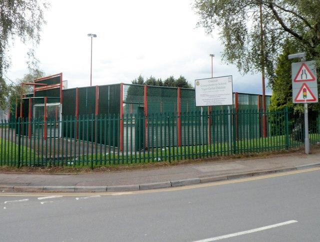 SE corner of Oakdale Comprehensive School