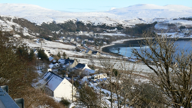 Uig and Idrigill, Isle of Skye in winter snow