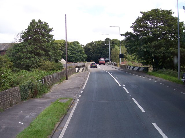 Canal and river bridges on the A59 at Tarleton
