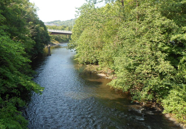 River Taff between two bridges, Abercynon