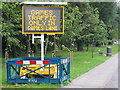 """TQ1882 : """"Games traffic only in games lane"""" Olympics sign by David Hawgood"""