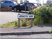 TM3876 : Jermyn Way sign by Adrian Cable