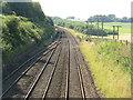 NS9677 : Edinburgh-Glasgow railway at Whitecross by M J Richardson
