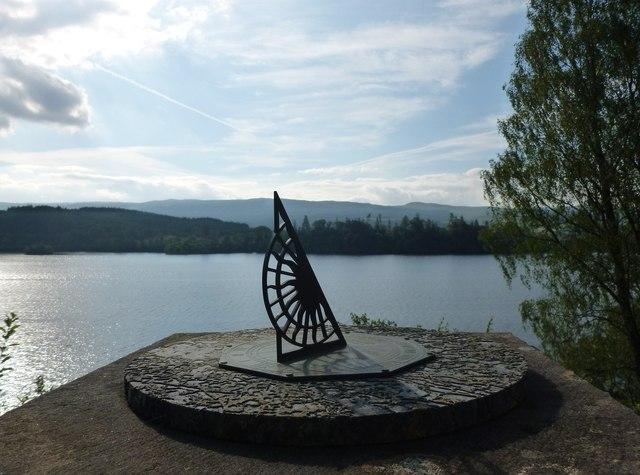 Sundial on the terrace, St. Conan's Kirk, Lochawe