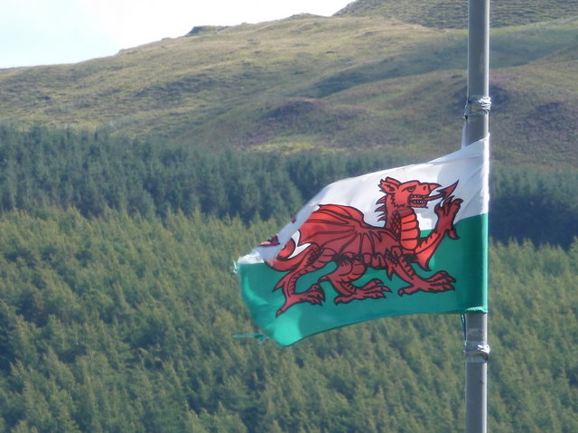 Campbeltown: the Welsh flag flies