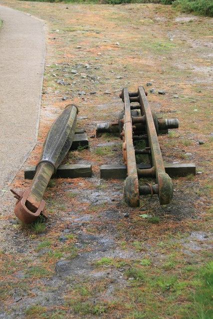 King Edward mine - beam engine parts