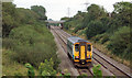 SS8481 : Single car train on South Wales Main Line near Kenfig Hill by eswales