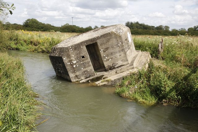 Pillbox in the water